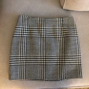 Fall Houndstooth Skirt
